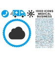 Cloud Icon with 1000 Medical Business Symbols vector image