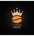 coffee bean crown design menu background vector image vector image