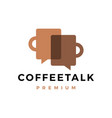 coffee talk logo icon vector image vector image