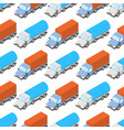 colored trucks seamless pattern vector image