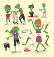 colorful zombie scary cartoon elements halloween vector image vector image