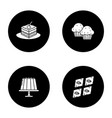 condectionery glyph icons set vector image vector image