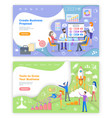 create proposal tools to grow business web pages vector image vector image