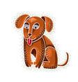 cute cartoon doodle red golden dog puppy nice vector image