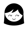 cute girl character icon vector image vector image