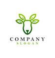 Deer leaf logo design