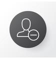 delete icon symbol premium quality isolated vector image vector image