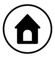 doghouse icon in round style is a vector image vector image