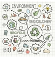 Ecology infographic hand draw icons sketch vector image vector image