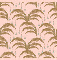 elegant leaves seamless pattern palm leaf vector image vector image