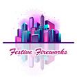 festive neon city vector image