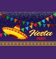 fiesta flyer mexican party invitations vector image