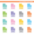 file format flat icons vector image