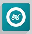 flat construction wheelbarrow icon vector image