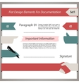 Flat Design Elements For Documentation Set1 vector image