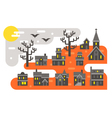 Flat design Halloween infographic elements vector image vector image