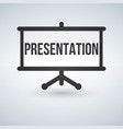 flat design of presentation screen symbol icon vector image