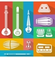 flat Indian instruments vector image vector image
