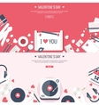 Flat musical background with vector image vector image