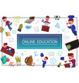 flat online education concept vector image vector image
