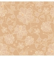 floral seamless background - pattern vector image vector image