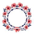 floral tropical cartoon vector image vector image