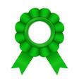 green award badge vector image