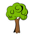 green tree icon cartoon vector image vector image