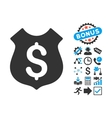 Guard Price Flat Icon with Bonus vector image vector image
