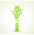 Herbal chemistry concept vector image