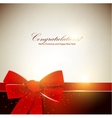 Holiday banner with red ribbons background vector image