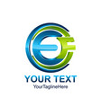 initial letter ef logo template colored blue vector image vector image