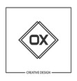 initial letter ox logo template design vector image