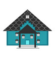 isolated house icon vector image