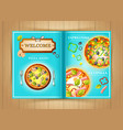 italian restaurant pizza menu brochure vector image vector image