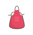 kitchen apron icon flat style vector image