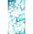 Light blue bokeh background made from white vector image vector image