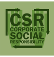 logo acronym Corporate Social Responsibility vector image vector image