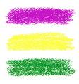 Mardi Gras pastel crayon brush strokes vector image vector image