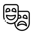 mask people emotions outline vector image vector image