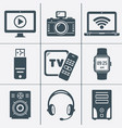 modern digital devices and electronic gadgets vector image vector image
