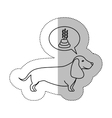 monochrome contour middle shadow sticker with vector image vector image