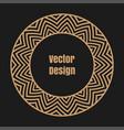 monogram line vintage frame vector image vector image