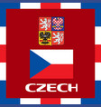 official government ensigns of czech vector image