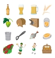 Oktoberfest beer cartoon icons set vector image