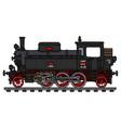 old black tank engine locomotive vector image vector image