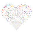 paperclip fireworks heart vector image
