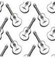 pattern with guitar vector image vector image