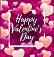 pink valentine greeting card vector image vector image