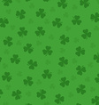 Pretty irish background with clovers leafs vector image vector image